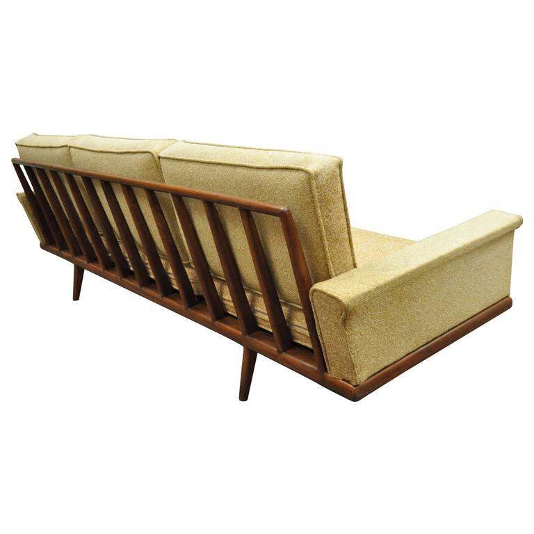 Mel Smilow For Smilow Thielle, Mid Century Danish Modern Sculpted Teak Sofa  For