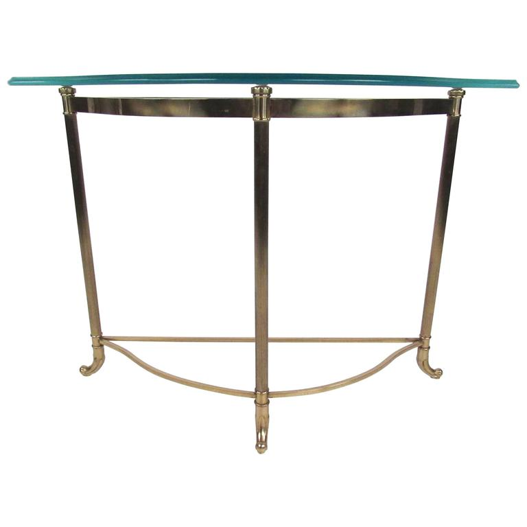 Contemporary Modern Demilune Hall Table
