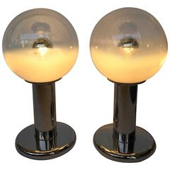 Pair of Lamps by Mazzega Murano, Italy, 1970s