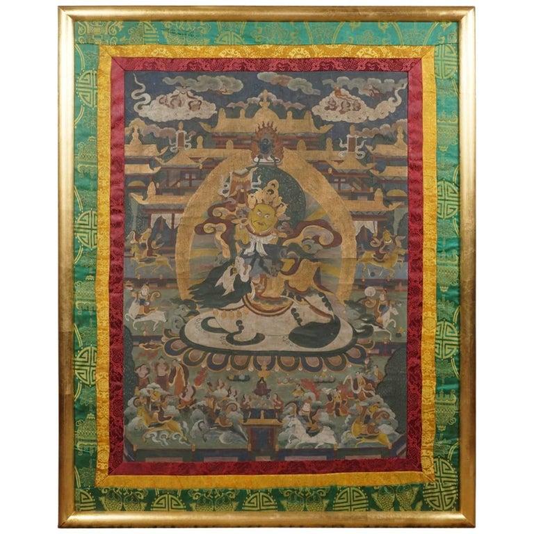 Early 20th Century Tibetan Thangka For Sale