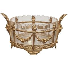 French Cut Glass and Gilt Bronze Jardiniere