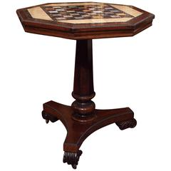 English William IV Rosewood Specimen Top Games Table