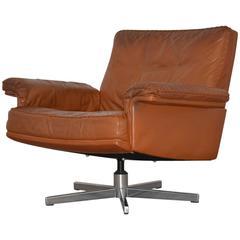 Vintage De Sede DS 35 Swivel Lounge Armchair, 1970`s
