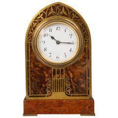 Erhard & Sohne Art Nouveau, Jugendstil Inlaid Clock