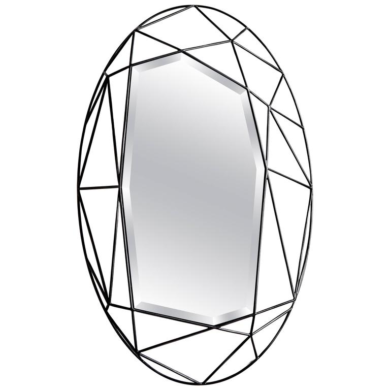Oval Maryline Mirror by Sam Baron For Sale