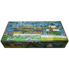 Vintage Enamel Chinese Jewelry Box