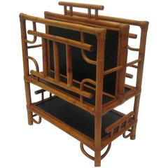 Bamboo and Rattan Magazine Stand