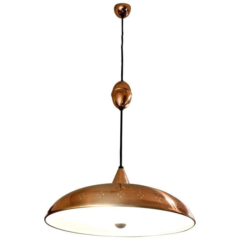 1960s Scandinavian Pull Down Ceiling Lamp For Sale At 1stdibs