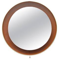 Artimeta Soest Perforated Mirror Lamp in Orange