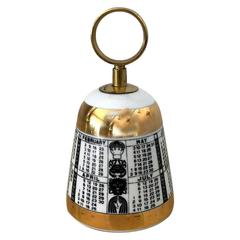 Porcelain and Brass Bell by Fornasetti