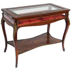 19th Century Rosewood and Marquetry Bijouterie Table