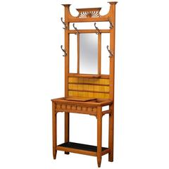 Arts and Crafts Solid Oak Hall Stand or Coat Stand