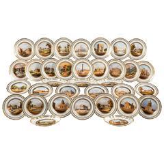 Mid-19th Century 34-Piece, Paris Porcelain Dessert Service