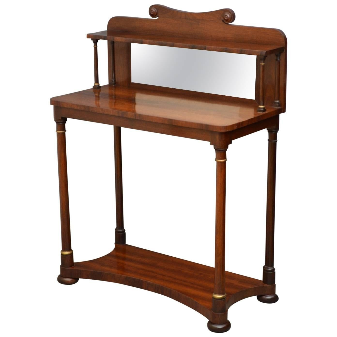 Regency Rosewood Console Table, Hall Table
