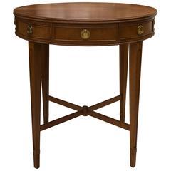Circular Mahogany Side Table
