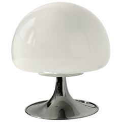 Reggiani Mushroom Glass Table Lamp, 1970s, Italia