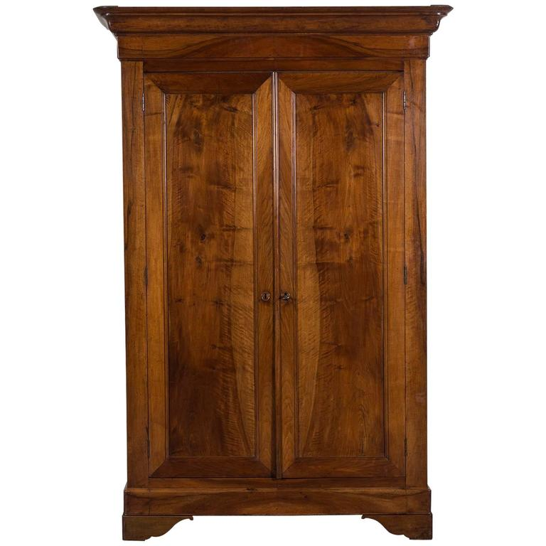 french louis philippe walnut armoire circa 1850 for sale. Black Bedroom Furniture Sets. Home Design Ideas