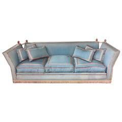 1940's French Salon Sofa with Original Fringe Upholstery