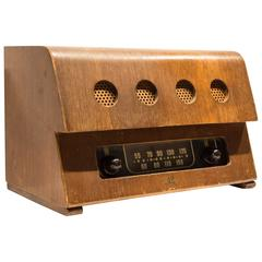 Rare Charles and Ray Eames Molded Plywood Radio