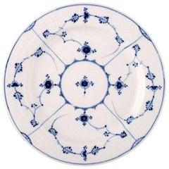 Rare and Antique Royal Copenhagen Blue Fluted Large Round Platter, 19th Century