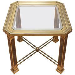 Vintage Mastercraft Brass Side Table