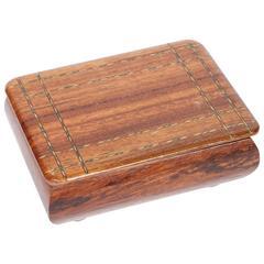 Vintage Wood Cigarette Box