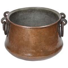Vintage Hand-Forged Copper Cauldron