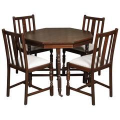 19th Century Walnut Game Table Set