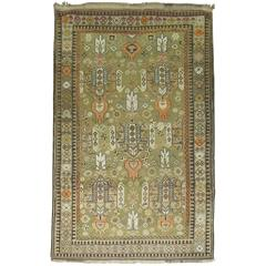 Green Antique Caucasian Rug