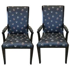 20th Century Amboyna Wood Dining Chairs by William Doezema for Mastercraft, Pair