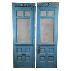 19th Century Montreal Set of Front Entry Doors