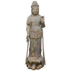 Buddhist Carved Guan Yin Bodhisattva Statue