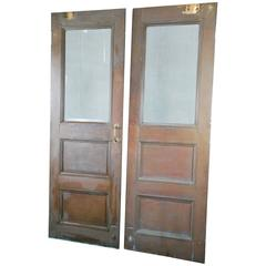 1920 Copper Pair of Industrial Doors