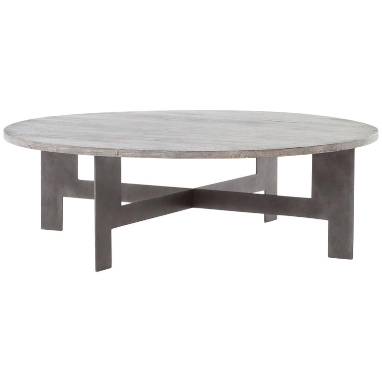 Iron and Wood Coffee Table 1