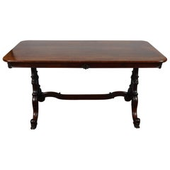 English Rosewood Early Victorian Library Table