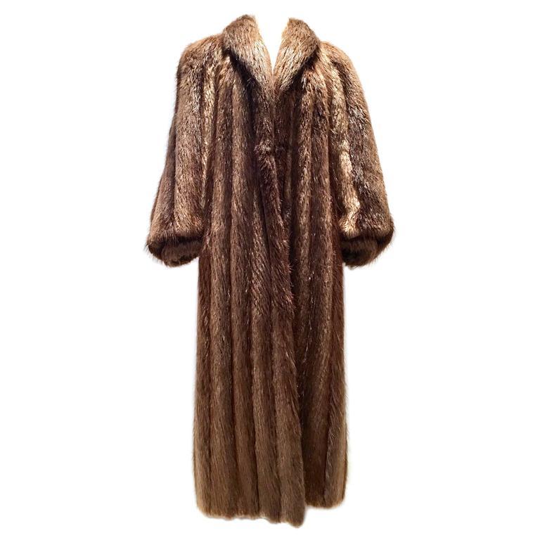 canadian long hair beaver fur coat at 1stdibs. Black Bedroom Furniture Sets. Home Design Ideas