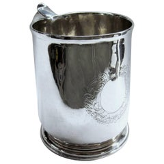 Early Silver Tankard,George I, London 1718/19, Brittania Standard,William Flemin