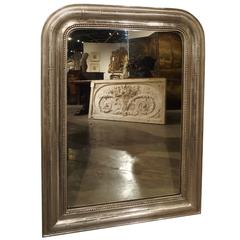 Antique Silverleaf Louis Philippe Mirror, France, Late 1800s