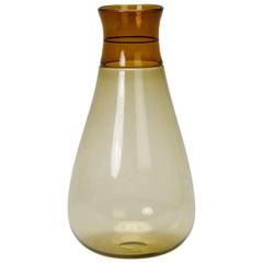 Tall Signed Venini Beaker Style Amber Vase