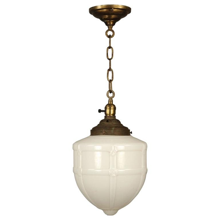 1930s Pendant With Original Glass Globe For Sale At 1stdibs