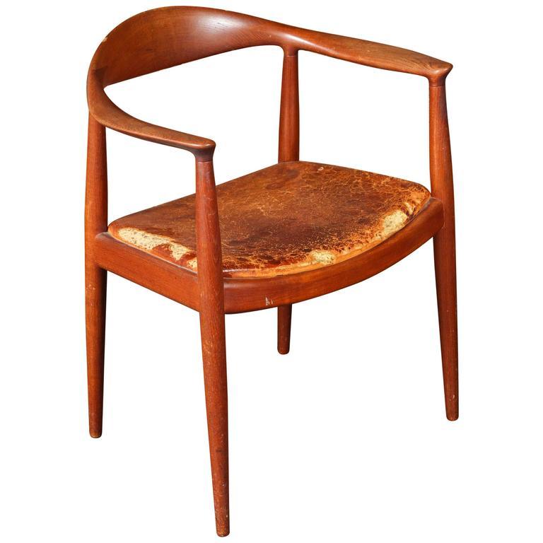 """Hans Wegner """"the Chair"""" by Johannes Hansen in Original Condition"""