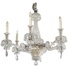 Exceptional Baccarat Crystal Six-Light Chandelier