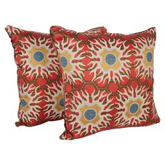 Pair of Vintage Tony Duquette Cushions