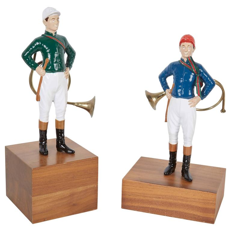 Pair of 21 Club Enamel Painted Tabletop Figurines 1