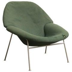 1960, Pierre Paulin, Rare 555 Easy Chair in Original Green Fabric