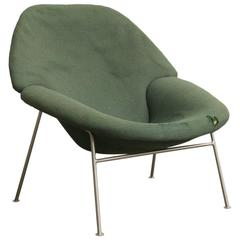 1960, Pierre Paulin, Rare 555 Easy Chair in Original Green Fabric
