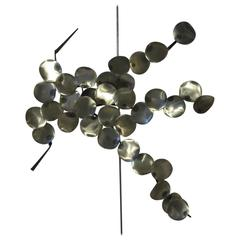 Silas Seandel Styled Brushed Metal Medallion Wall Sculpture