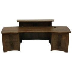 Custom-Made Oak Desk in the Style of Charles Rennie Mackintosh
