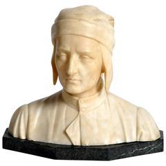 French Marble Bust of Dante Alighieri