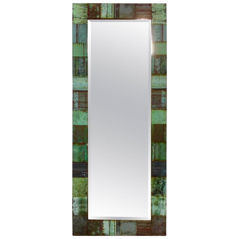 Antique Copper Roof Tile Patchwork Full Length Mirror